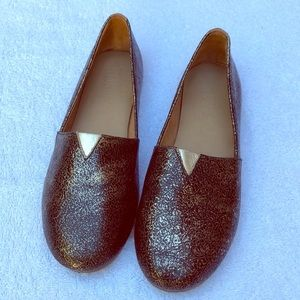 Tkees Gold Slip On Shoes